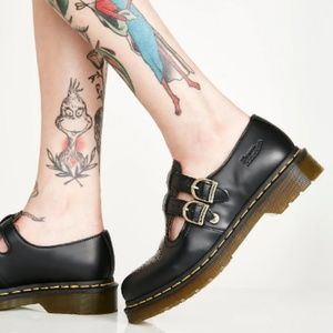 NWT~$120~Dr. Doc Martens~Black 8065 Mary Janes~NEW